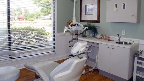 dental care center treatment room